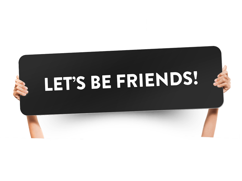 Fun church welcome signs - Let's be friends!