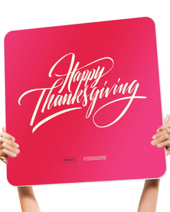 Fun seasonal church welcome sign - happy thanksgiving